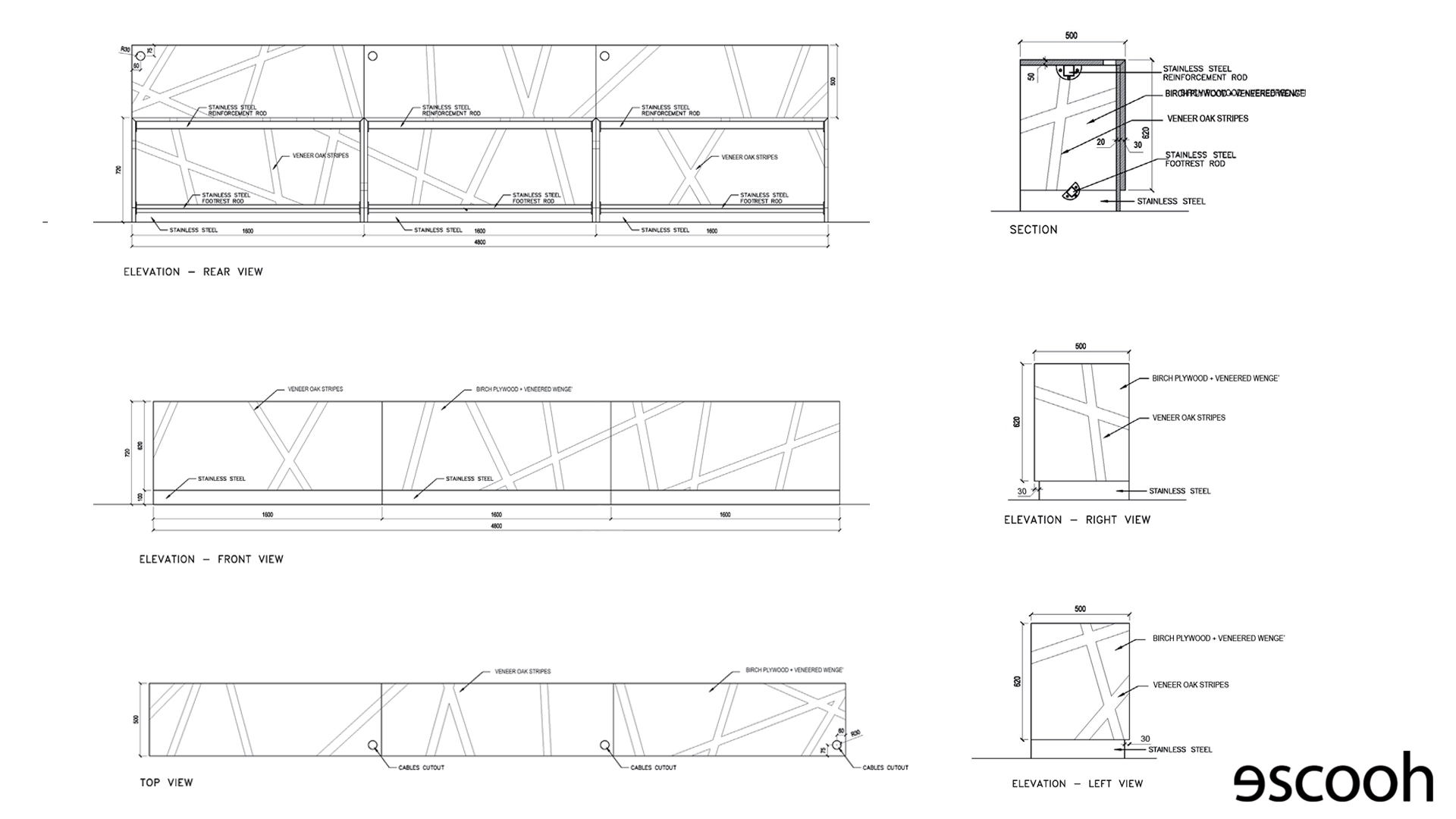 Escooh projects_Conference room desk data sheet